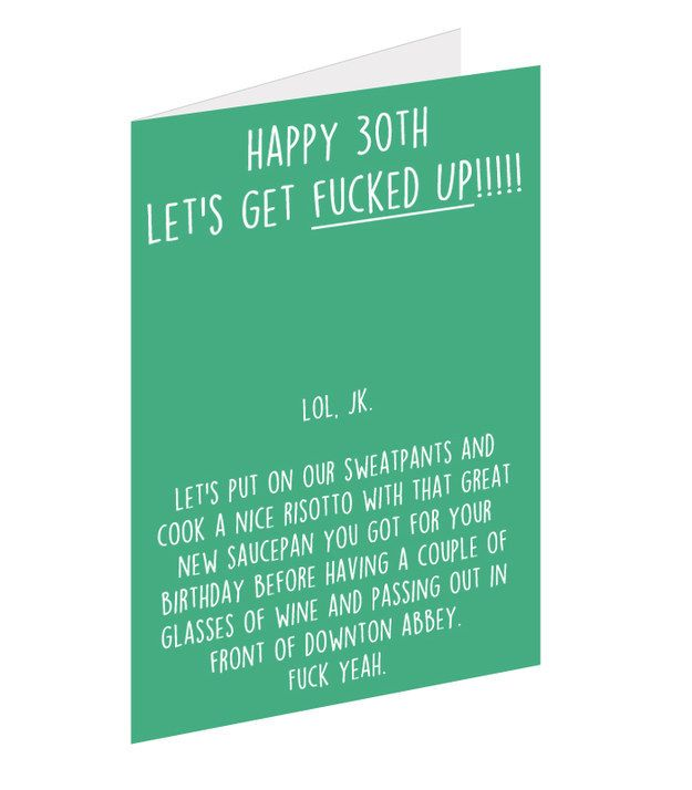 30 Funny Birthday Quotes: 12 Brutally Honest 30th Birthday Cards