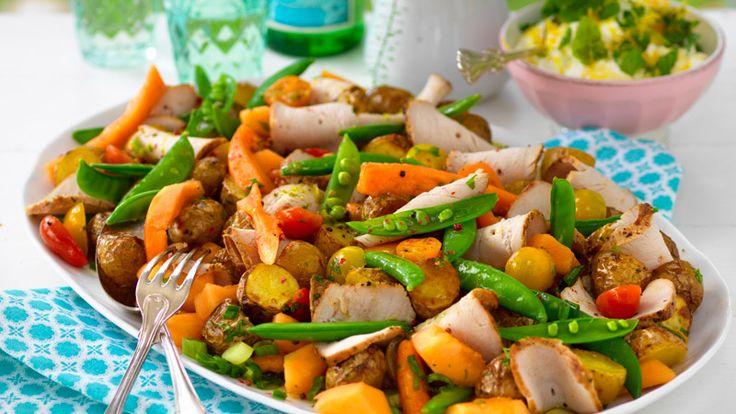 Helstekt fläskytterfile med potatissallad – recept