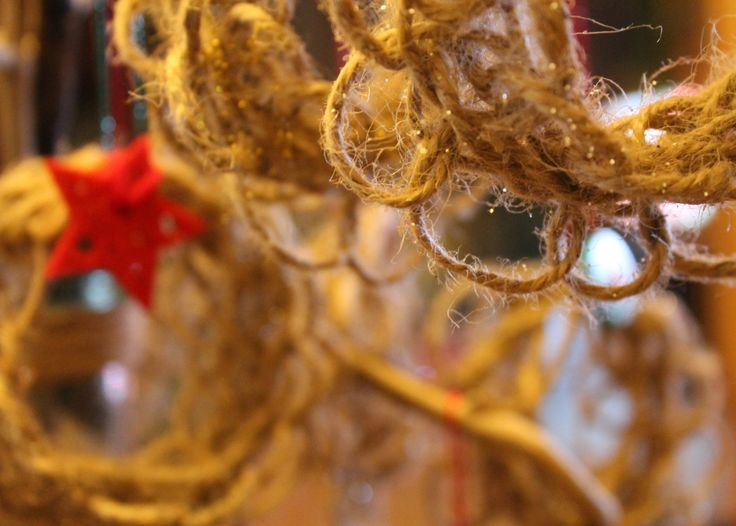 Twine Christmas hanging decoration - a little appetiser.  https://www.facebook.com/tideandtwine
