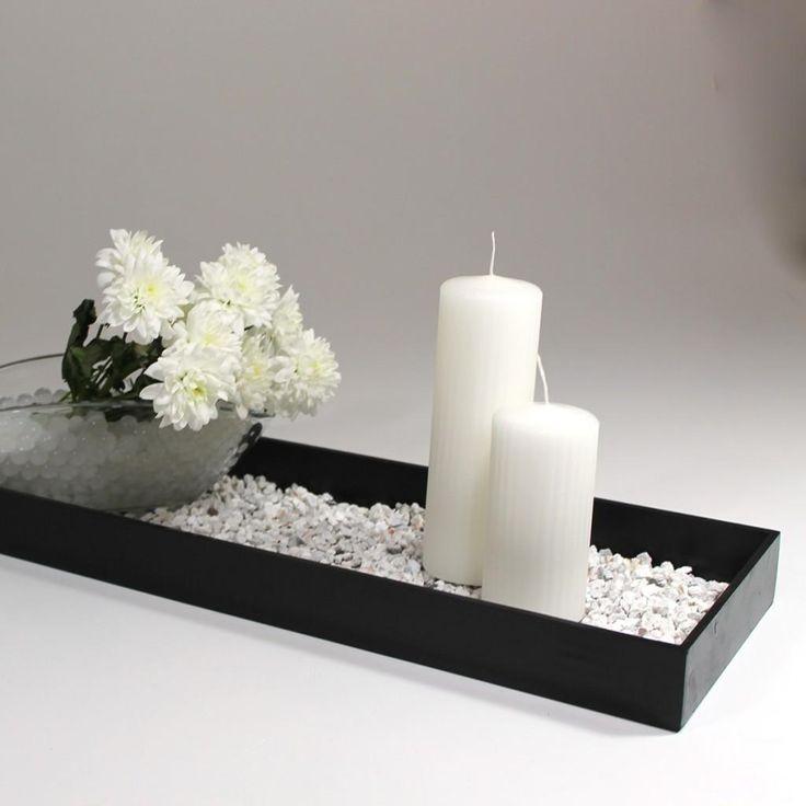 Borddekoration i Hvid og sort