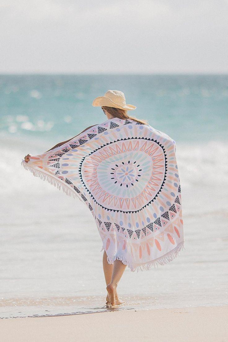 Serviette de plage ronde MOZAÏQUE