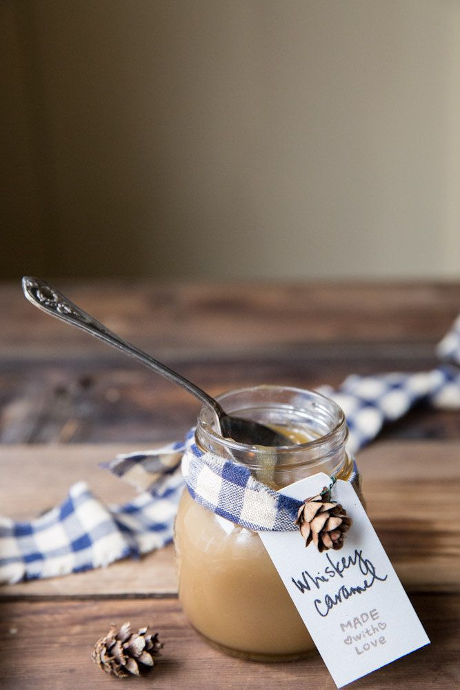 Homemade Whiskey Caramel Sauce, for the ultimate DIY foodie gift. Or, you know, to eat straight from the jar by yourself. We don't judge.