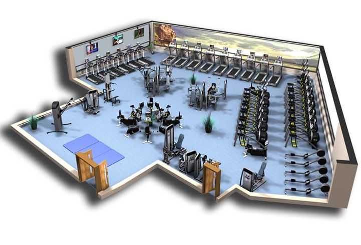 Commercial fitness facility design installation showcase for Gym design layout