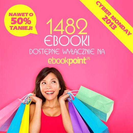 1 4 8 2 ebooki dostępne WYŁĄCZNIE u nas z RABATAMI sięgającymi nawet do 50%... i tylko 24h!  Dziś CYBER MONDAY!!!  Poniedziałkowego zaczytania :))   #ebookpoint, #kindle, #ebooki, #czytniki, #promocje, #rabaty