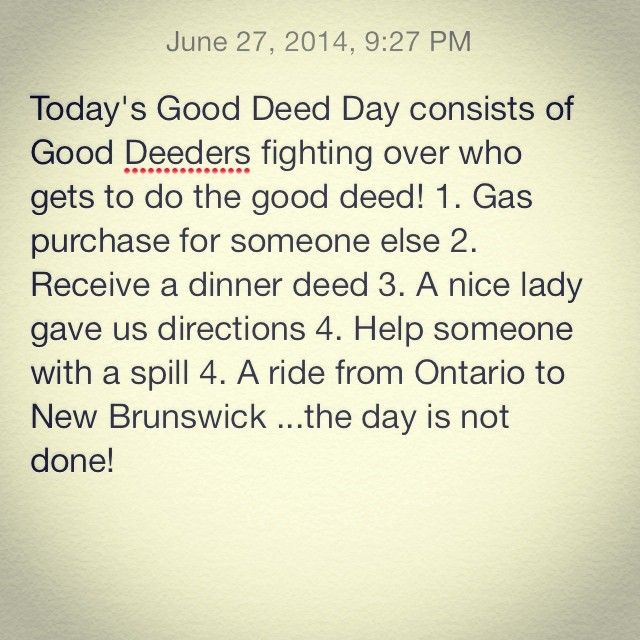 It's a good day for a good deed day! #gooddeedsproject