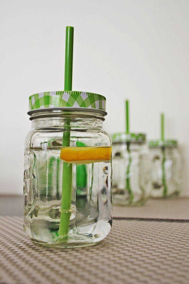 Jars with straw by Duka