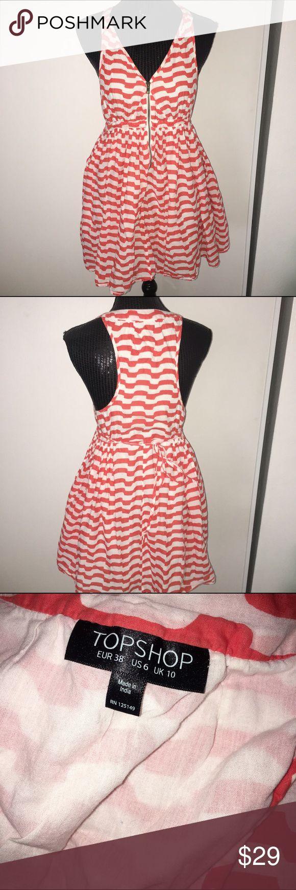 Orange chevron size 6 TOPSHOP dress So cute Topshop Dresses Mini