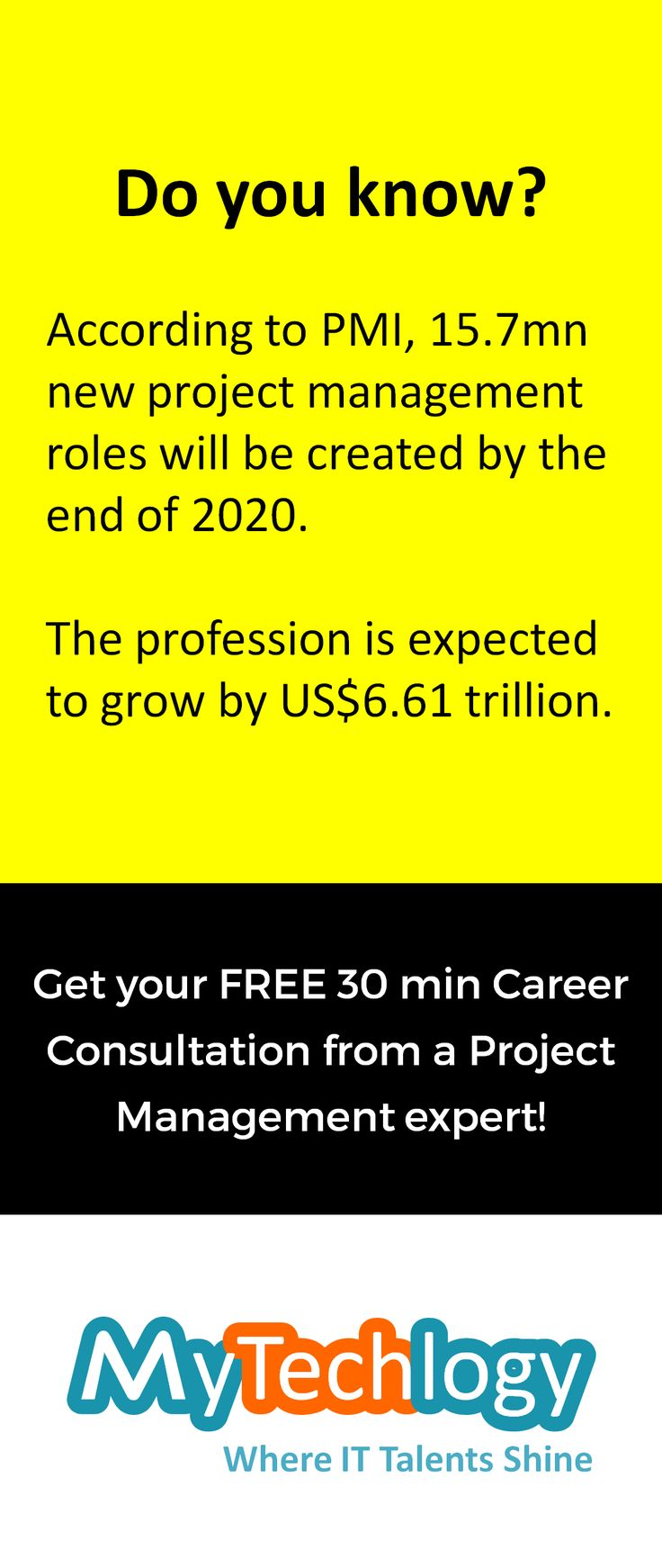 Discuss your readiness for the next level in project management with an expert. Get your free 30-min consultation (no credit-card required). To book your appointment  visit: http://www.mytechlogy.com/IT-career-development-services/career-coaches/Claudine-Kumar/ Hurry up! Only limited slots available!