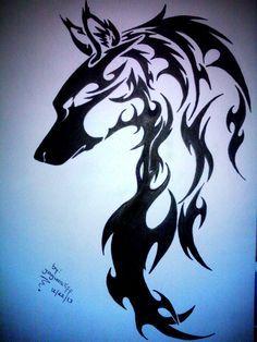 wolf tribal tattoo - Google Search