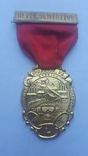 1928 Scranton Pa FLT Grand Lodge Medal Badge Ribbon