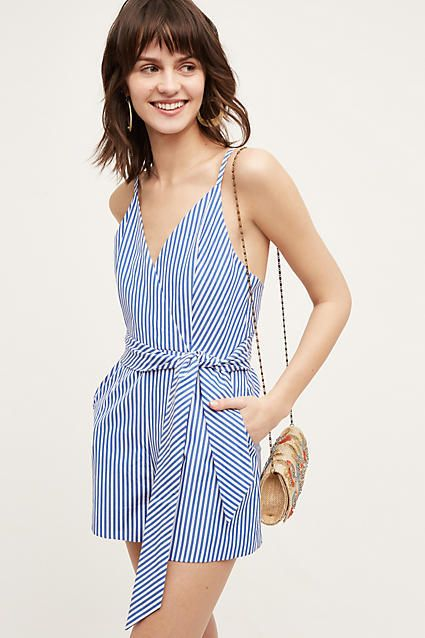 Finders Keepers Candy Stripe Romper - from anthropologie