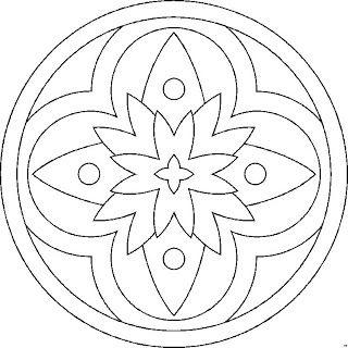 mandala - also a great beaded felt pattern