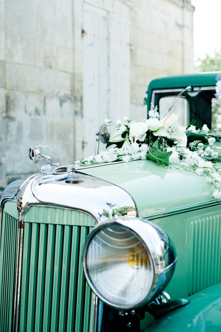 MINT Wedding: Wedding Rolls Royce Car in Vintage Mint Colour