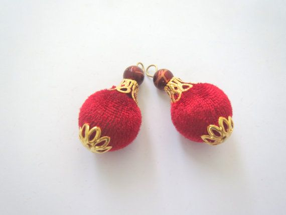 Dark Red and Gold Handcrafted Velvet by CraftyJaipur on Etsy