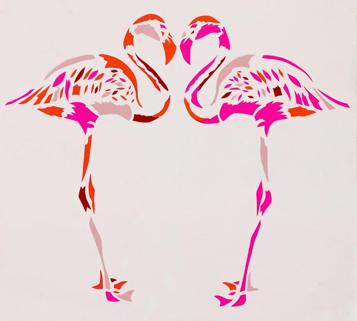 Fuschia Flamingos Limited Edition Fine Art Giclee Print | Contemporary Art. Design Gifts. Ideas. | Everything Begins