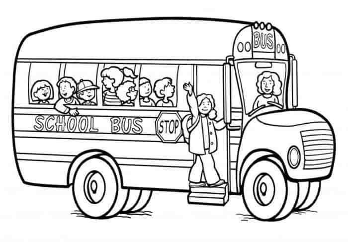 Gambar Mewarnai Di 2020 Dengan Gambar Bus Sekolah Halaman