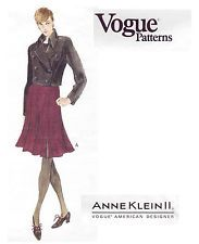 Vogue Sew Pattern 1461 Anne Klein Moto Jacket & Gored Skirt 12-14-16 UC