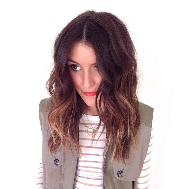 Sun kissed brunette hair with a sexy wave. Ombre, sombre or soft ombre.
