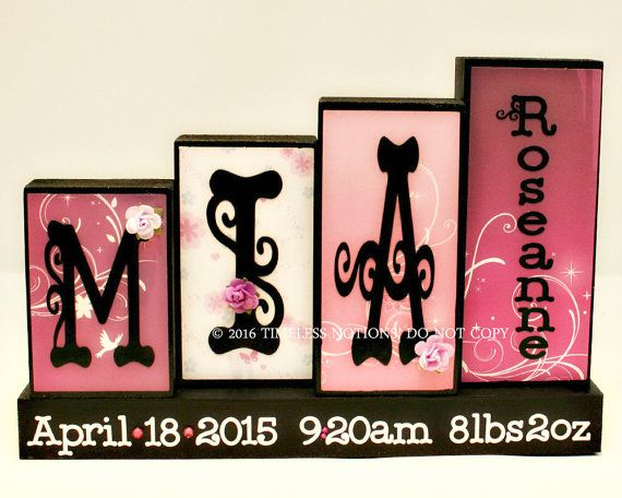 Personalized Baby Name Decor  Nursery Name by TimelessNotion