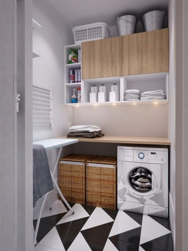 efficient laundry room - berging - www.home-designing.com