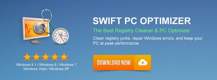 swift pc optimizer, that's work for cleaning ragistry errors and trash file that makes your computer slower.
