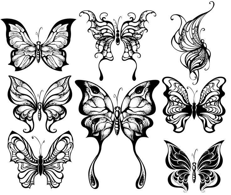 coloriage papillons feriques