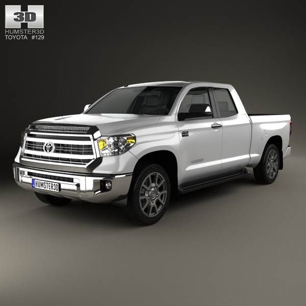 Toyota Tundra Double Cab 2013 3d model from humster3d.com. Price: $75