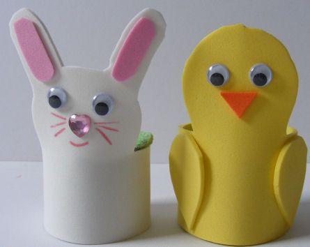 Foam egg cups - so cute!