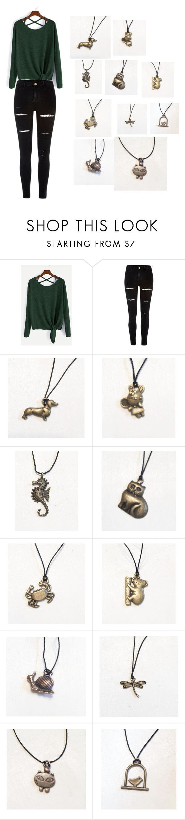 Pick your spiritual animal by thebunnyjewelryshop on Polyvore featuring River Island