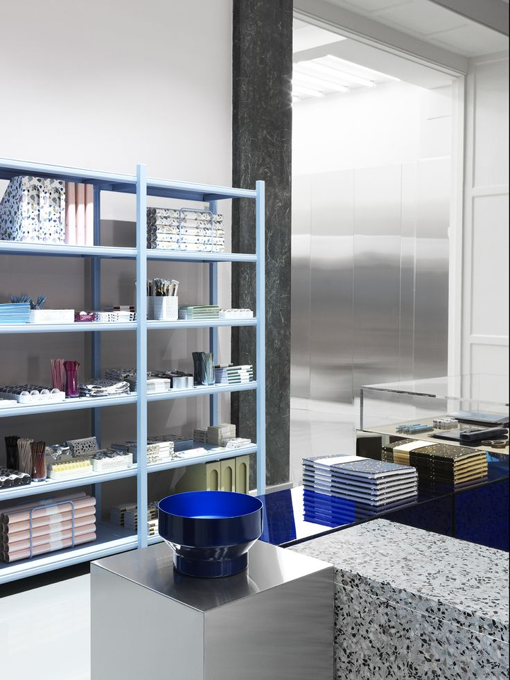 Daily Fiction stationary items on display at Normann Copenhagen's showroom