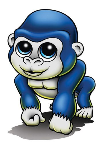 Gorilla - Zootoos Temporary Tattoo