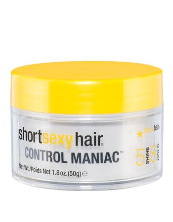 Short Sexy Hair Control Maniac hair wax -- great styling wax and smells just faintly of blueberries