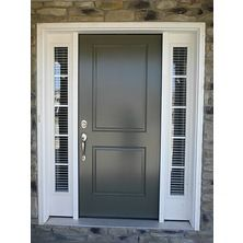 Sidelights on both sides of a front door. Sidelight windows blinds are also called, door window blinds. Call us for info on sidelight blinds. 419-381-2700