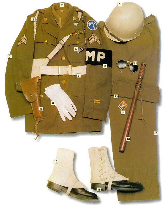 Corporal, US Military Police, 1945 - 35 Amazing Photos Of World War II Uniforms  Page 2 of 2  Best of Web Shrine