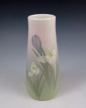ROOKWOOD ART POTTERY VASE:  Shape 950E, Decorated by Lenore Asbury, dated 1911