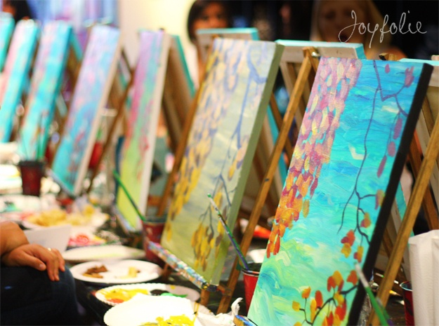 everyone should try a painting class! even if there isn't an ounce of artistic ability in your body. its still fun.