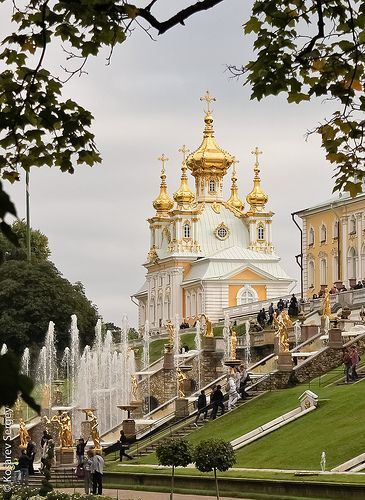 """Petergof, or Peterhof (Dutch/German for """"Peter's Court""""), known as Petrodvorets as well. Actually it presents a series of palaces and gardens, laid out on the orders of Peter the Great, and sometimes called the """"Russian Versailles"""". The palace-ensemble is recognized as a UNESCO World Heritage Site, established at the beginning of the 18th century and saved until our time."""