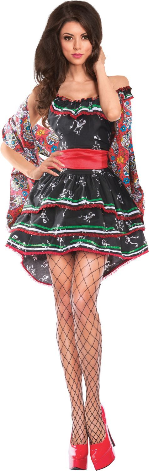 Adult Muerta Sugar Skull Costume - Day of the Dead - Party City ALSO SOLD AT KMART FOR 28.99 HALF PRICE THAN PARTY CITY