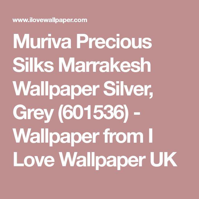 Muriva Precious Silks Marrakesh Wallpaper Silver, Grey (601536) - Wallpaper from I Love Wallpaper UK