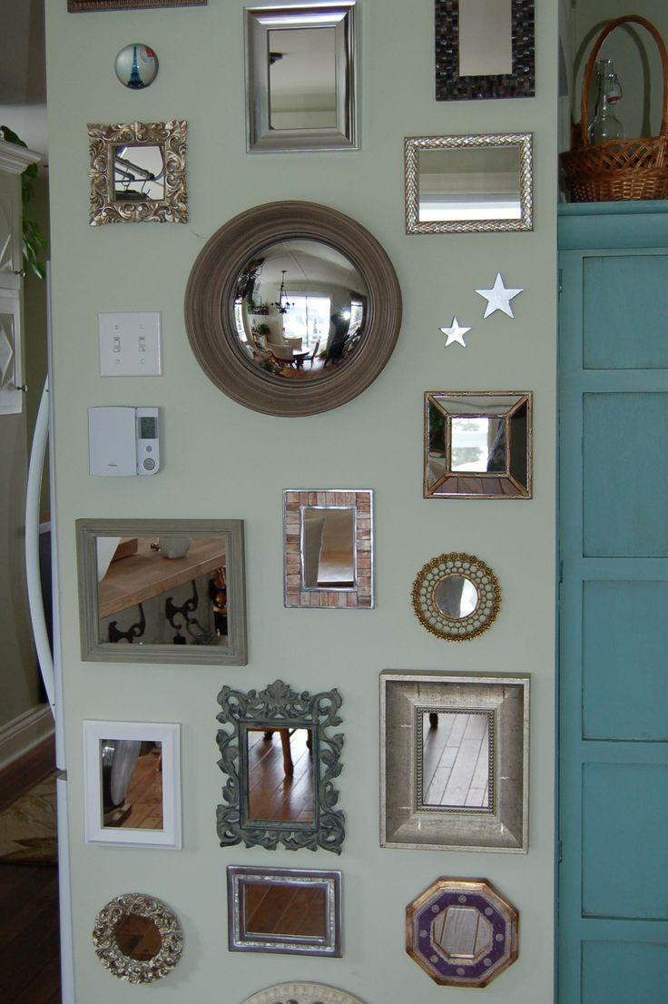Les 25 meilleures id es de la cat gorie d cor cadres vides sur pinterest cadres vides cadres - Mur en miroir ...