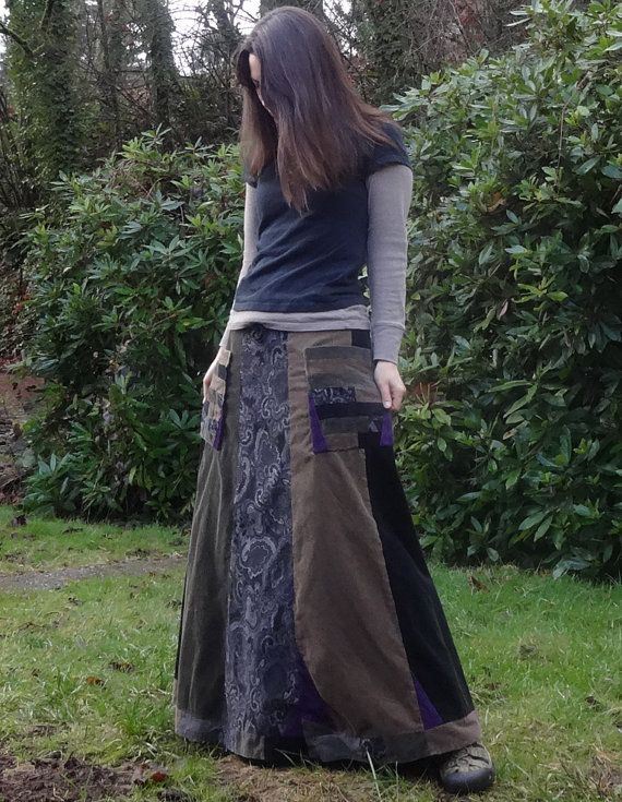 Hippie Patchwork Full Length Corduroy Panel by harmoniousthreads, $88.00
