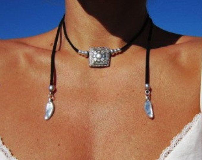 Envuelva el collar, collar de mínima, joyas Boho, joyas de Bohemia, joyería hippie, Bohemia collares, collares boho, joyería minimalista