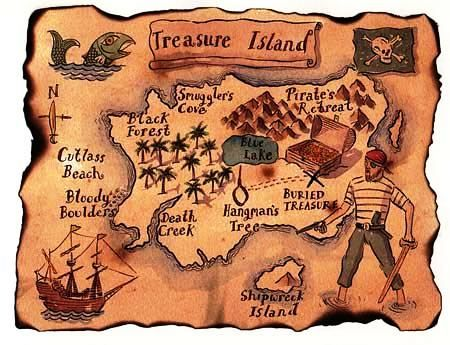 пиратская карта сокровищ - Поиск в Google