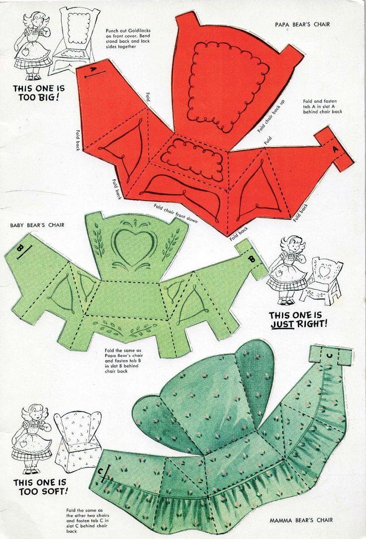 Vintage Whitman 2114 Goldilocks The Three Bears Paper Dolls 1953 Uncut Unused | eBay