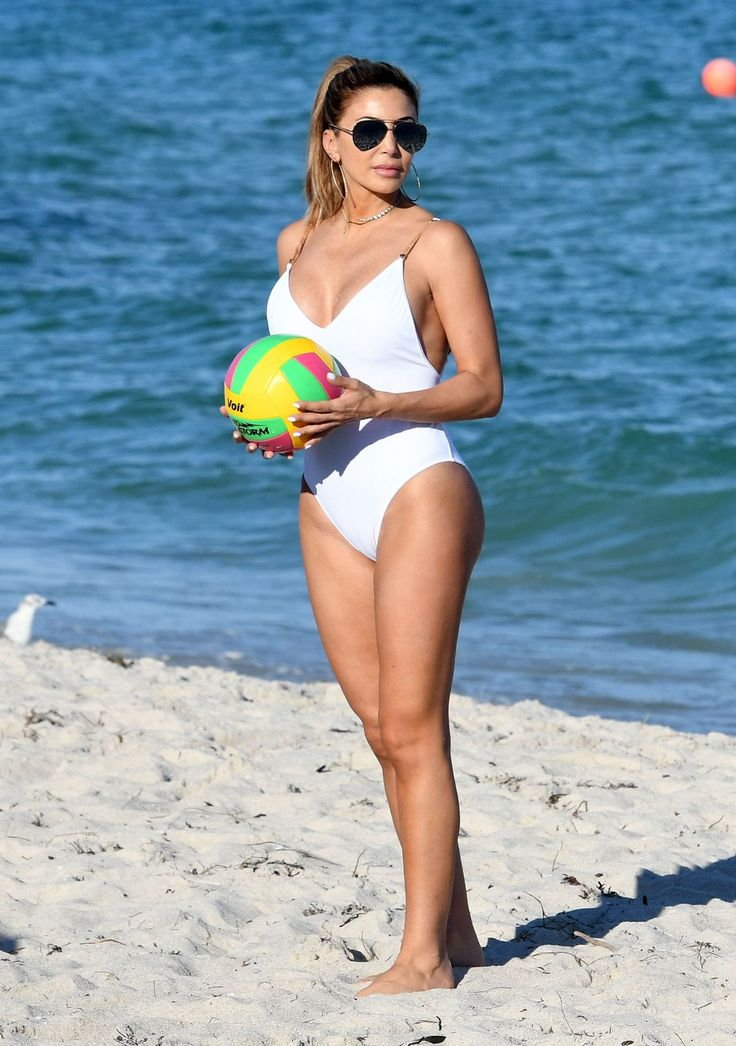 Larsa Pippen Shows Off Her Curves in a White Swimsuit  Beach in Miami
