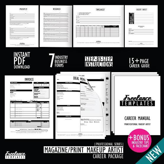 Magazine Makeup Artist Career Package by freelancetemplates                                                                                                                                                                                 More