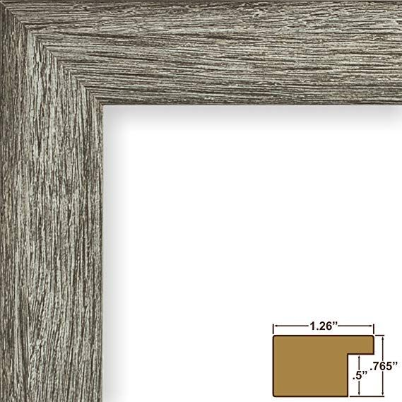 Amazon Com Craig Frames 26030 16 By 16 Inch Gray Barnwood Picture Frame Single White Mat With 1 12 By 12 Inch Sq Craig Frames Grey Picture Frames