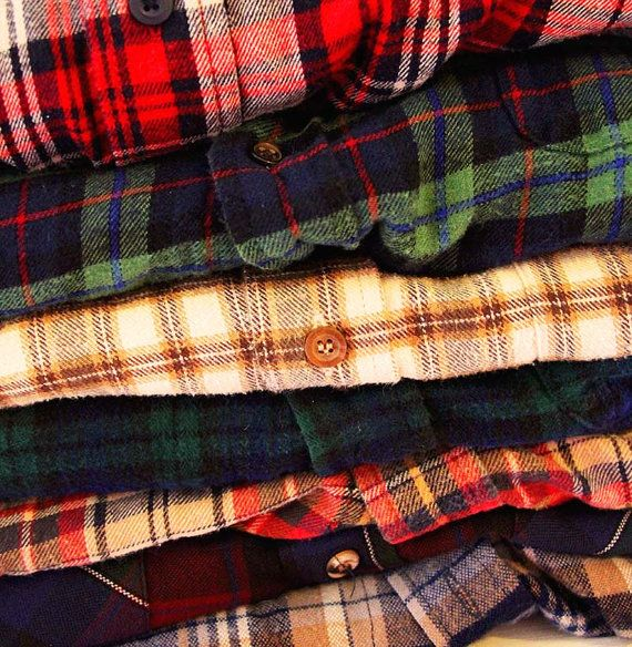 Mystery Flannel Shirt by TheBeardedBee on Etsy, $9.00