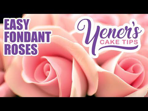 Schnell und einfach FONDANT ROSES Tutorial | Yeners Kuchentipps | Yeners Way – YouTube   – Cake decorating ideas and hints