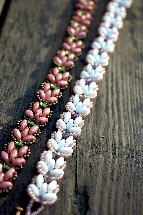 *P TUTORIAL  Lotus Chain beaded bracelet with Super by MadeByOlga, $10.00